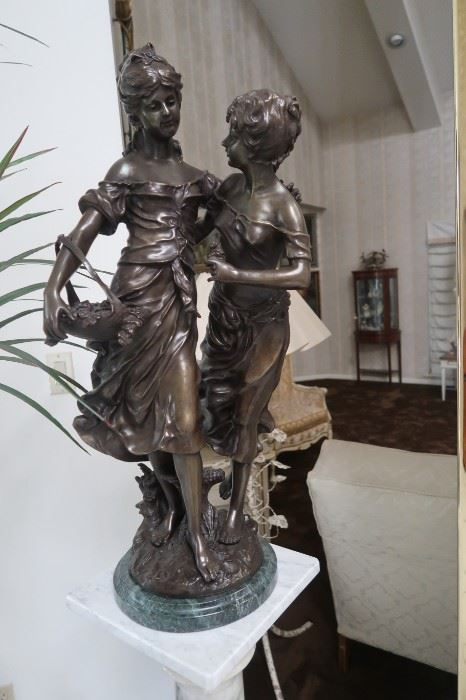 "Auguste Moreau ""Sisters"" Bronze"