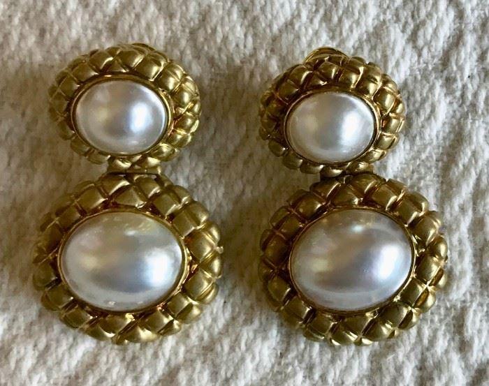 14k & Mabe Pearl Earrings