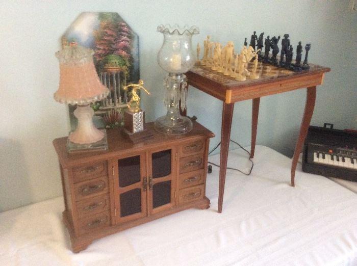 Jewelry box and civil war chest set