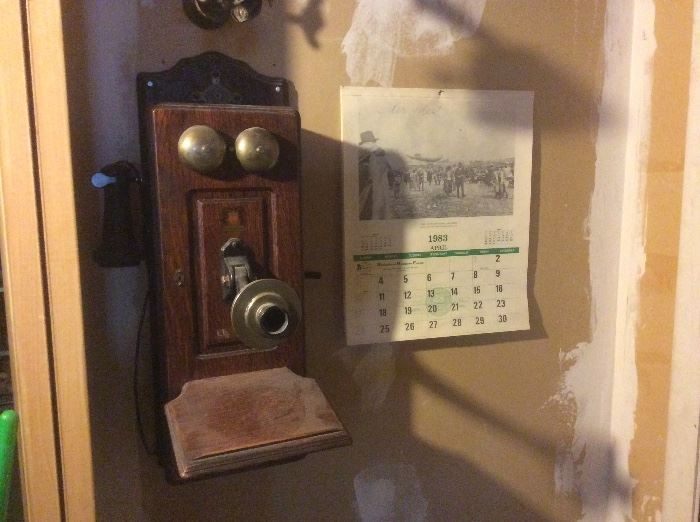 Oak telephone. Converted to land line