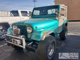 California Title #50: 1979 Jeep CJ5, Frame Off Restoration! See Description for More Details! VIN: J9F83EC834081 8300  3 Speed trans, 4.2L 7 main bearing motor, approx 1,500 2,000 miles on engine. All rubber replaced, lined with Line X, carb just rebuilt, new Battery. Warn Winch with new clutch. New cat, shocks, gauges, Tuffy over head console for stereo and CB radio, Polk audio system with amp and Alpine head unit. Whole tub is painted/line x, when tub was off. New top!  DMV Registration: $37 and $70 doc fees