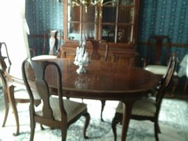 OVAL TABLE WITH SIX CHAIRS $185.00