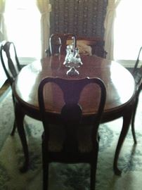 OVAL TABLE WITH SIX CHAIRS $185.00 SET