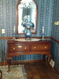 TWO DRAWER SERVER $155.00. GWTW LAMP $95.00.