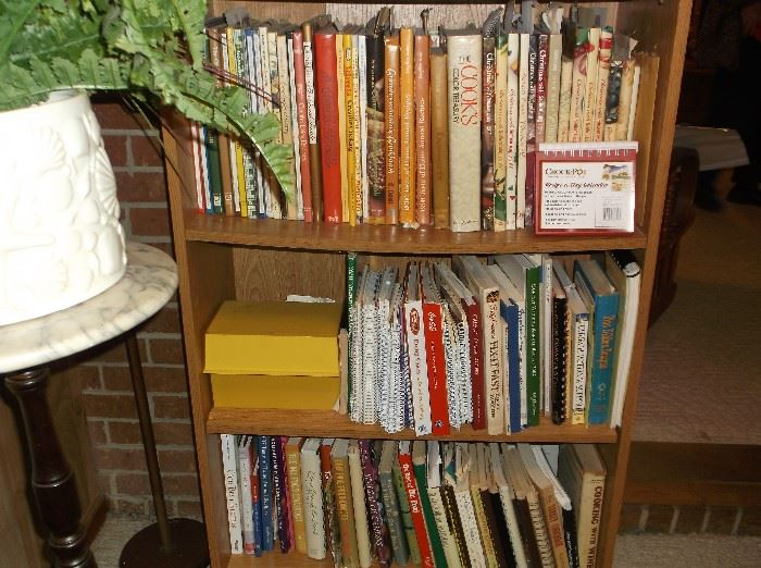 Some of the hundreds of cook books
