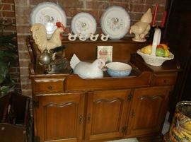 Dry sink and chicken collection