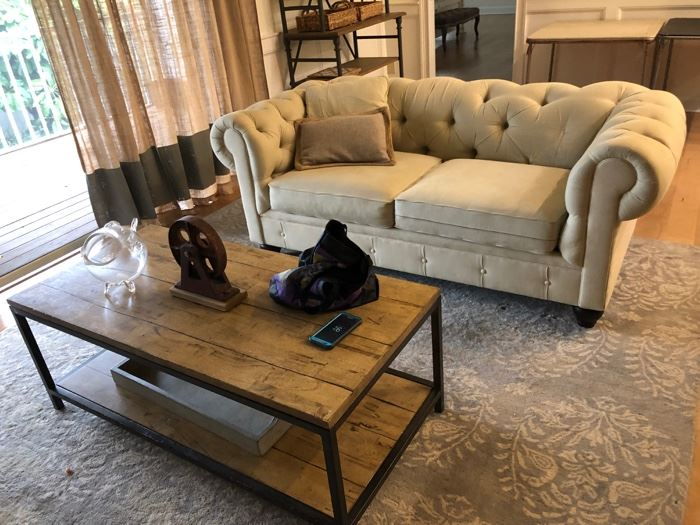 1 of 2 living room sofas