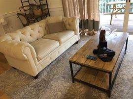 2 of 2 living room sofas       coffee table