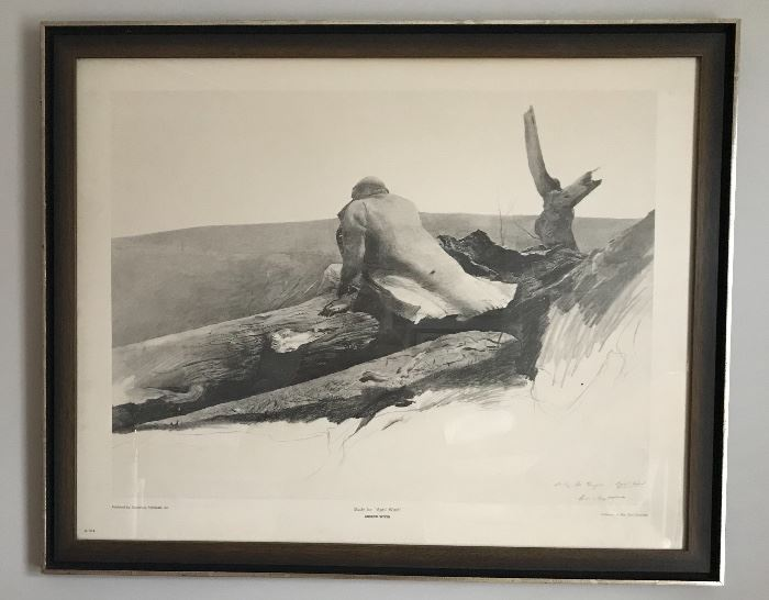 One of two Andrew Wyeth prints for sale