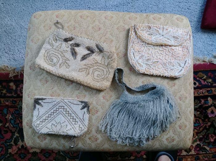 Fine antique beaded bags