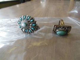 2 Turquoise Colored rings