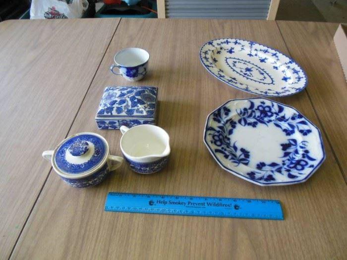 6 pieces Blue Design china