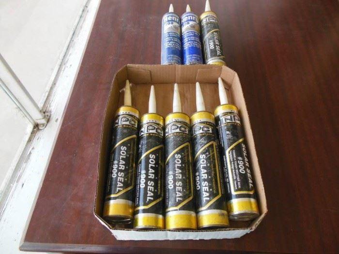 8 new tubes of sealants