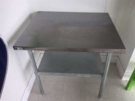 36x30 Stainless steel table.