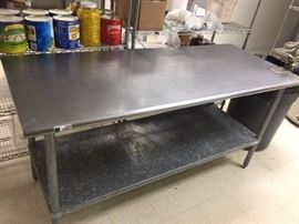 72x30 Stainless steel table with can opener