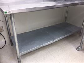 72x30 Stainless steel table.