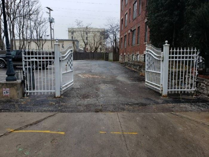 Metal Powered Entry Gate with Liftmaster control