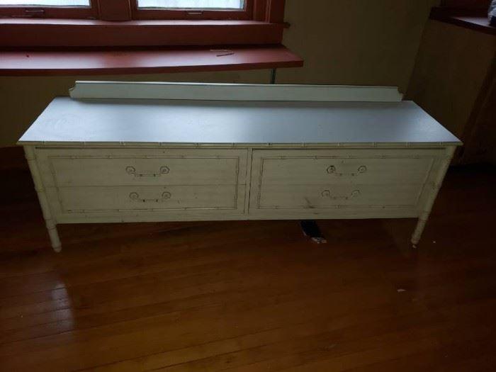Wooden entertainment center dresser