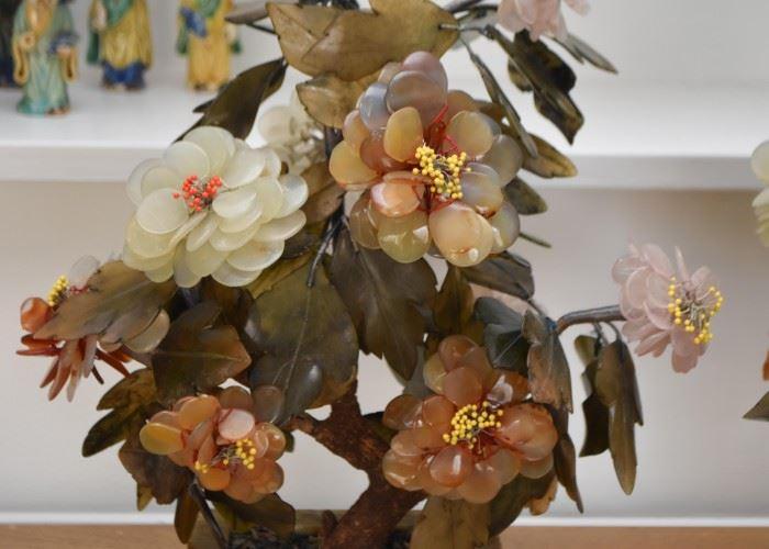 """Pair of Jade Bonsai Trees (Each approx. 14"""" H)"""
