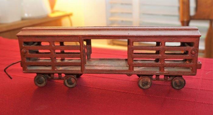 Old metal box car train