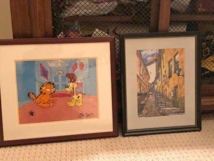 Garfield and Art