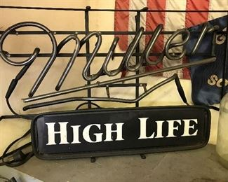VTG Miller sign, needs TLC