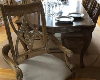 Bernhardt Dining Room Table w/ 8 Chairs & Breakfront