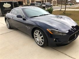 2010 Maserati Grand Turism, 27,000 original miles, garage kept.