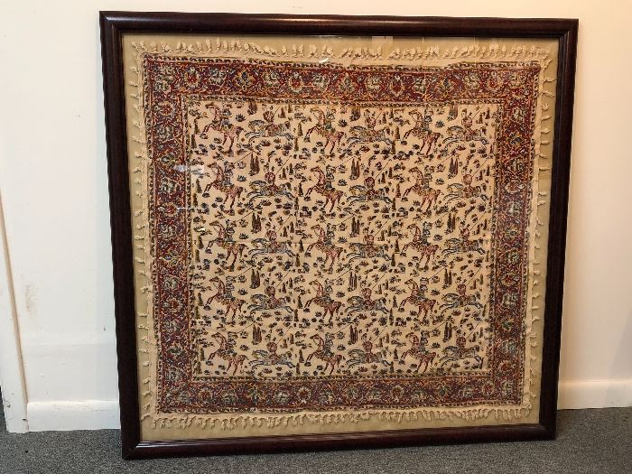 Large framed textile