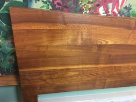 Mid-century modern solid teak king size headboard. Great quality and heavy!