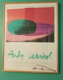 """Andy Warhol Signed Serigraph """"Space Fruit - Watermelon"""""""