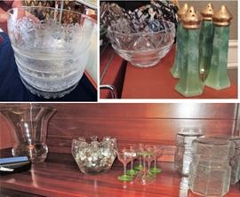 Crystal and china - including Tiffany and Co heart bowl