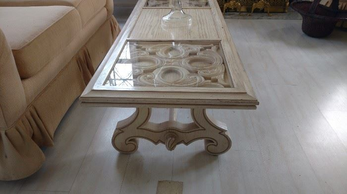 Detail of coffee table