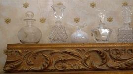 Detail of perfume bottles