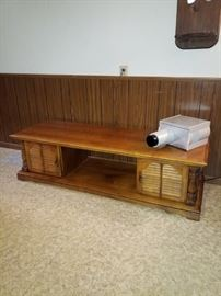 Coffee table and projector