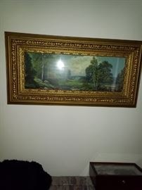 Beautiful framed antique picture