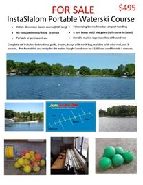 InstaSlalom Portable Water Ski Course - 6 buoy course package with vinyl coated stainless steel mainline - 24 buoys Retails For: $1,100. - is available at this sale