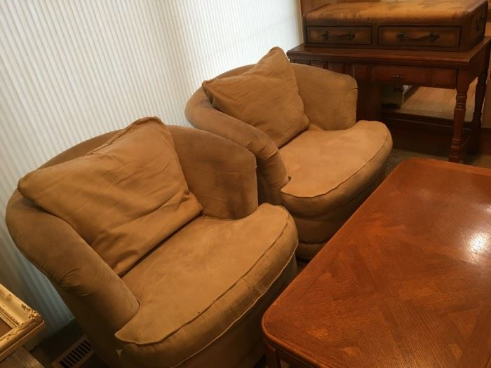 La-Z-Boy - side chairs - swivel accent loose cushions - is available at this sale