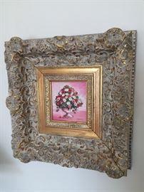 Framed Floral Print.