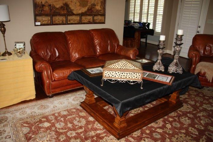 Hancock & Moore Leather Sofa