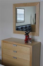 Modern Mirror and Dresser