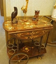 Ornate tea cart