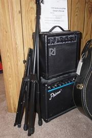 Guitar amps and mic stands