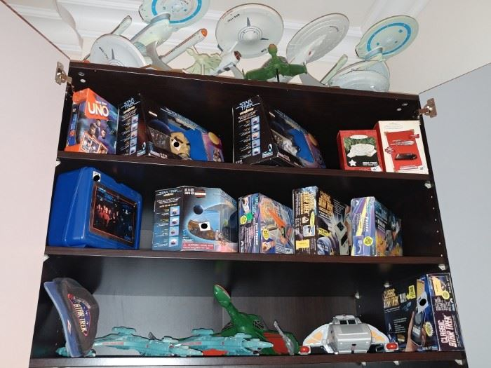 STAR TREK.. MOST BOXES NEVER OPEN SINCE AROUND 1990...