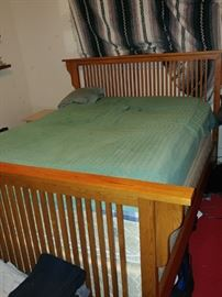 QUEEN BED.. CAN SELL WITHOUT MATTRESS... ALSO RED RUGS