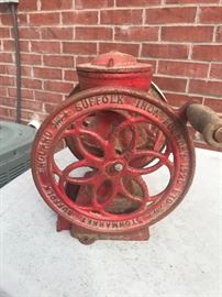 Vintage metal coffee grinder -at checkout