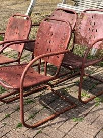 vintage rusty chairs