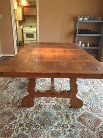 beautiful farm style dinning table