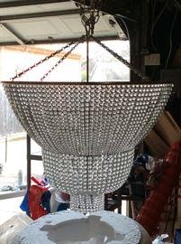 Massive crystal light fixture. New