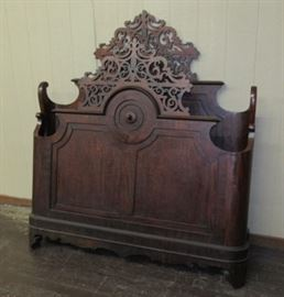 Outstanding 1860's Mahogany Bed